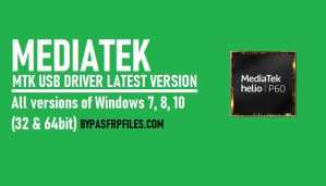MTK USB Driver Download All Version Latest 2020