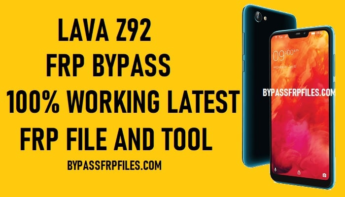 Lava Z92 FRP Bypass - Unlock Google Account Android 8.1 Oreo