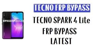 Tecno Spark 4 Lite FRP Bypass - Unlock Gmail Lock Android 9.0