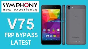 Symphony V75 FRP Bypass | Unlock Google Without PC 2020
