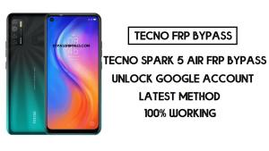 Tecno Spark 5 Air FRP Bypass | How to unlock Tecno google account