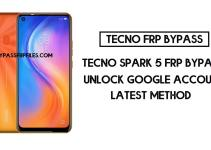 TECNO Spark 5 FRP Bypass | How to unlock Tecno google account (Android 10)