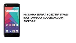 Micromax Bharat 3 Q437 FRP Bypass | How To Unlock Google Account - Latest Methods