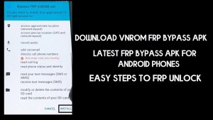 Download Vnrom FRP Bypass Apk 2021 | Google Unlock in One-Click