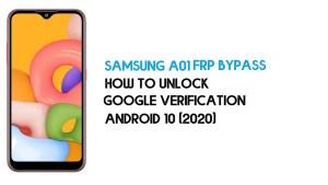 Samsung A01 FRP Unlock | Bypass Android 10 December 2020 Patch