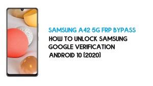 Samsung A42 5G FRP Unlock | Bypass SM-A426B Android 10- Latest