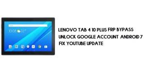 Lenovo Tab 4 10 Plus FRP Bypass No PC | Unlock Google – Android 7