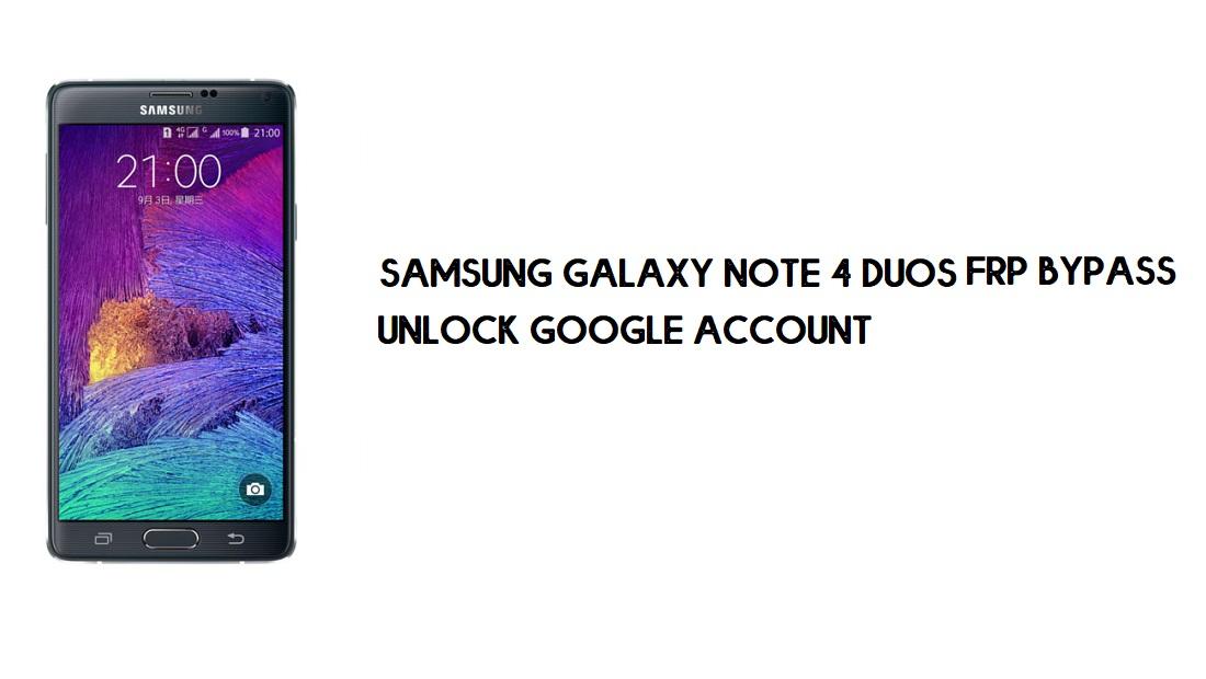 Samsung Note 4 Duos FRP Bypass | Google Account Unlock SM-N9100