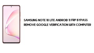 Samsung Note 10 Lite Android 11 FRP Bypass | Google Account Remove