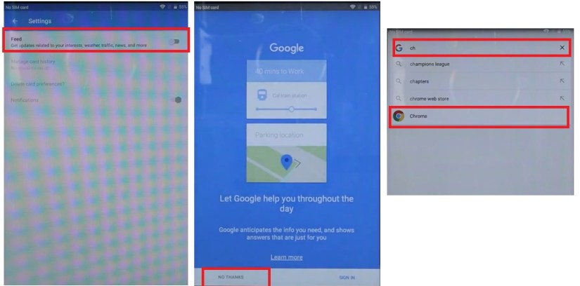 Access Chrome Browser to ZTE Android 7.1 FRP Bypass Unlock
