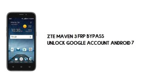 ZTE Maven 3 FRP Bypass | How to Unlock Google Verification (Android 7.1)- Without PC