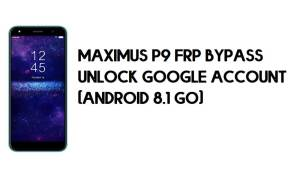 Maximus P9 FRP Bypass – Unlock Google Account – (Android 8.1 Go) [Without PC]