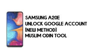 Samsung A20e FRP Bypass - Unlock With Muslim Odin Tool [Android 10]