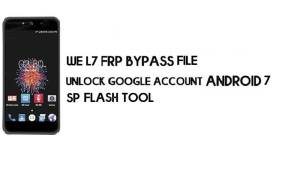 We L7 FRP Bypass File & Tool – Unlock Google (Android 7) Free Download