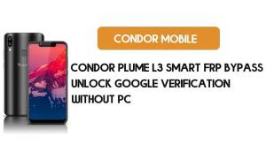 Condor Plume L3 Smart FRP Bypass No PC – Unlock Google Android 8.1