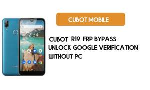 Cubot R19 FRP Bypass Without PC - Unlock Google [Android 9.0] for free