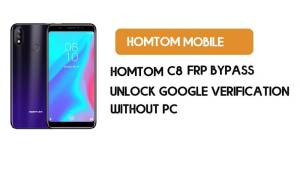 HomTom C8 FRP Bypass Without PC – Unlock Google Android 8.1Go