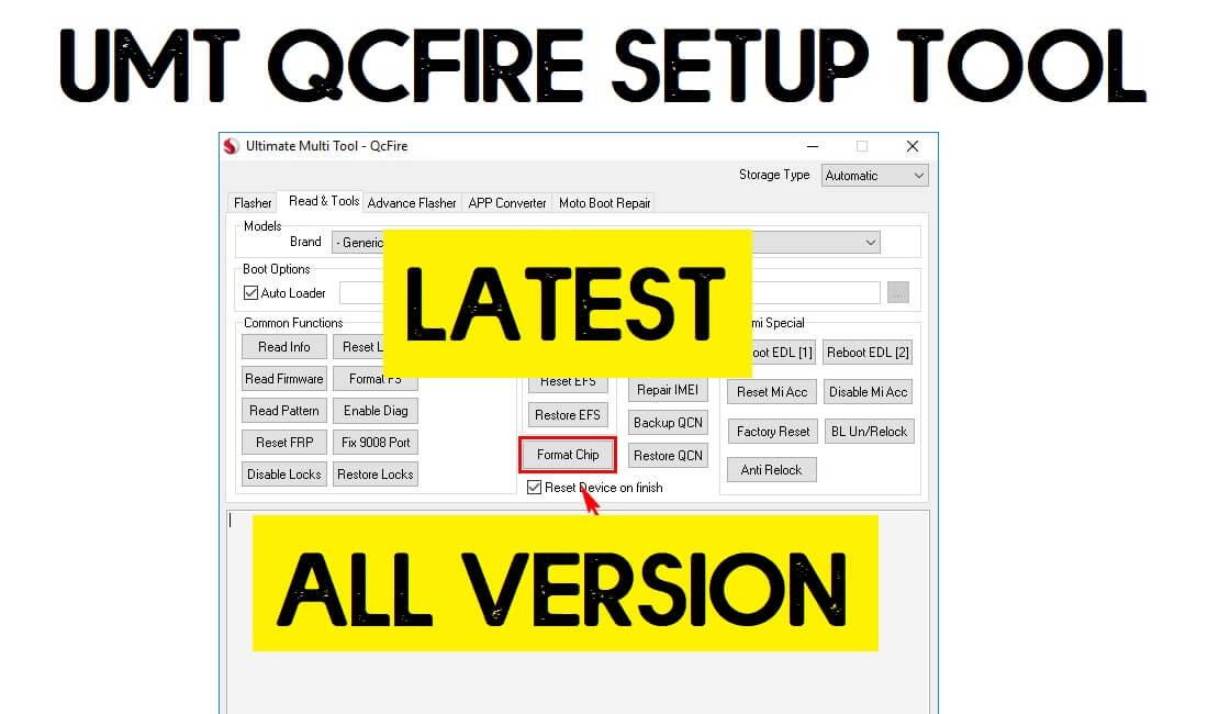 UMT QCFire Tool v6.6 Latest Setup Download (All Version) Free