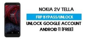 Nokia 2V Tella FRP Bypass – Unlock Google Account [Android 10] Free New Method (Without PC)