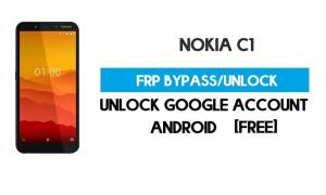 Nokia C1 FRP Bypass Android 9 Without PC – Unlock Google gmail lock