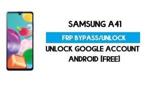 Samsung A41 FRP Bypass Android 11 R (Unlock Google Verification) Free