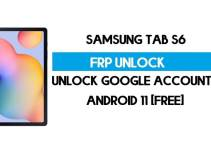 Samsung Tab S6 FRP Bypass Android 11 R (Unlock Google Verification) Free