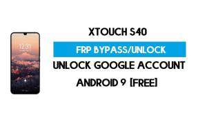 XTouch S40 FRP Bypass – Unlock Google Account (Android 9 Pie) for Free (Without PC)