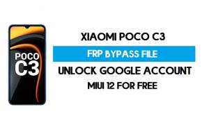 Xiaomi Poco C3 FRP File (Unlock Google Account) Without Auth [SP Flash Tool] Free