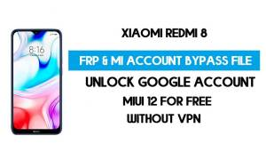 Xiaomi Redmi 8 FRP & MI Account Bypass File (Without VPN) Download