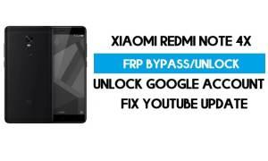 Unlock FRP Xiaomi Redmi Note 4x (Fix Youtube Update) Bypass Gmail