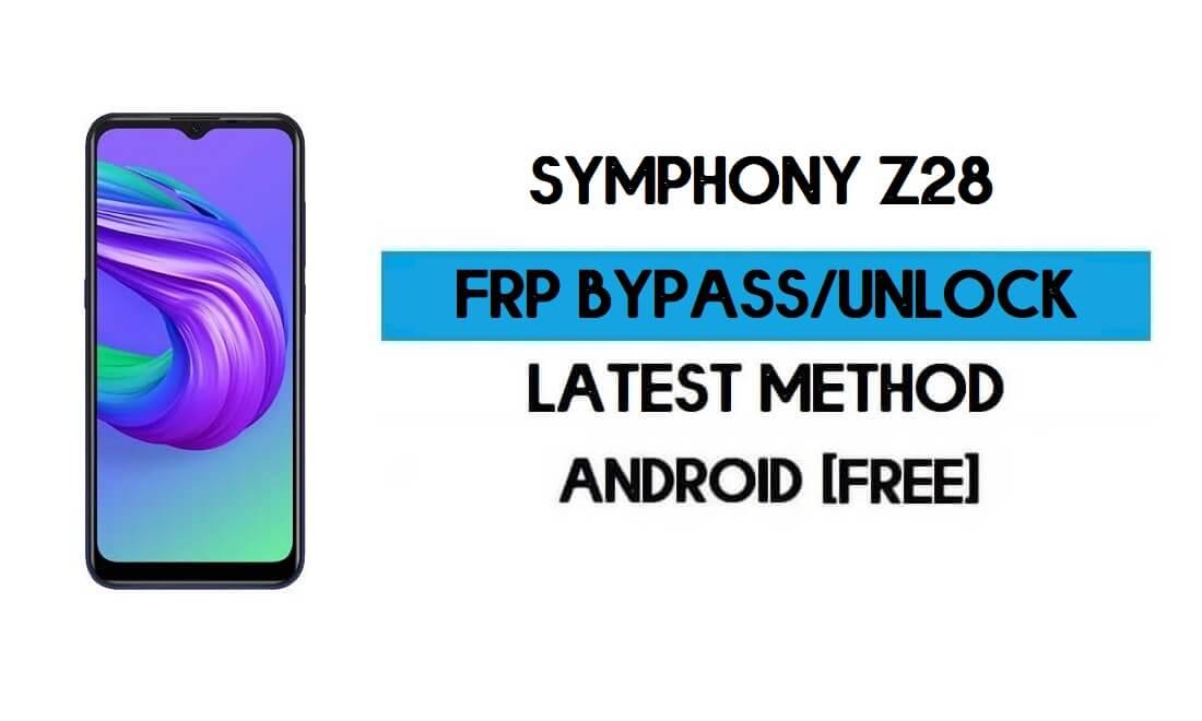 Symphony Z28 FRP Bypass Without PC - Unlock Google Gmail Android 10