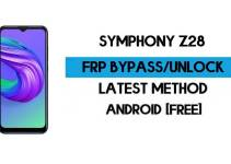 Symphony Z28 FRP Bypass – Unlock Google GMAIL Verification (Android 10) – Without PC