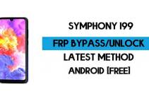 Symphony i99 FRP Bypass  – Unlock Google GMAIL Verification (Android 10) – Without PC