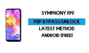 Symphony i99 FRP Bypass Without PC – Unlock Google Gmail Android 10