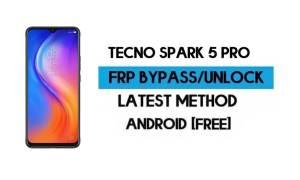 Tecno Spark 5 Pro FRP Lock Bypass – Unlock GMAIL [Android 10] (2021)
