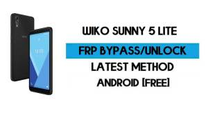 Wiko Sunny 5 Lite FRP Bypass Without PC - Unlock Gmail lock Android 10