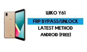 Wiko Y61 FRP Bypass Without PC - Unlock Google Gmail Android 10 Go