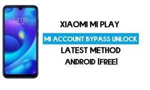 Xiaomi Mi Play Mi Account Remove With SP Flash Tool Free