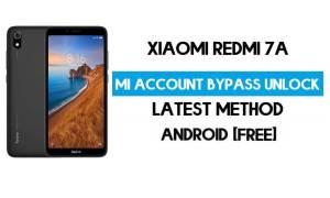 Xiaomi Redmi 7A Mi Account Remove With SP Flash Tool Free