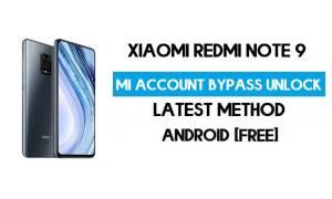 Xiaomi Redmi Note 9 Mi Account Remove With SP Flash Tool Free