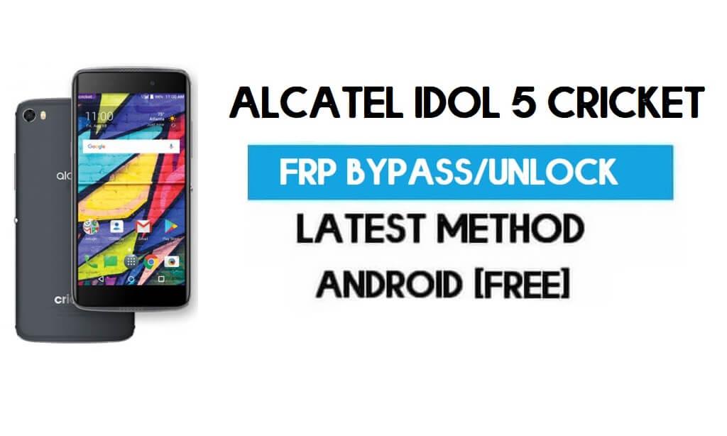 Alcatel Idol 5 Cricket FRP Bypass – Unlock Gmail Lock Android 7.0 Free