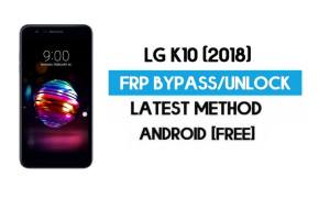 LG K10 (2018) FRP Bypass – Unlock Google GMAIL Lock [Android 8.1] Without PC/APK