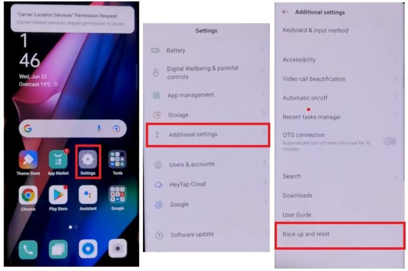 Backup & Factory Reset to Oppo Realme Android 11 FRP Bypass - Unlock Google (Fix FRP Code Not Working) Without PC