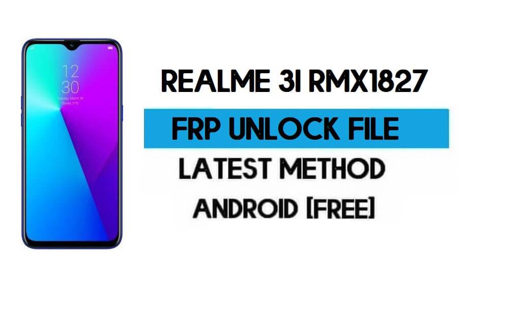 Realme 3i RMX1827 FRP Bypass File (Remove with DA) SP tool Latest