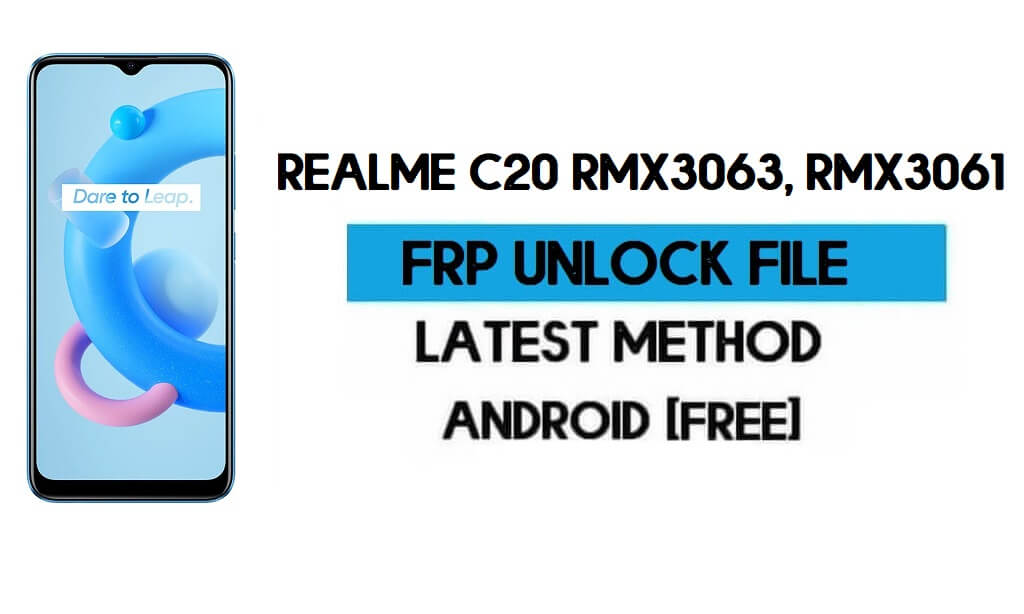 Realme C20 FRP Bypass File (Remove with DA) with SP tool Latest