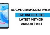 Realme C20 FRP File (With DA) RMX3061, RMX3063 Unlock by SP Tool – Latest Free