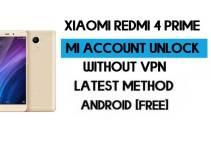 Xiaomi Redmi 4 Prime Mi Account Remove Without VPN Qfil Flash Tool Free