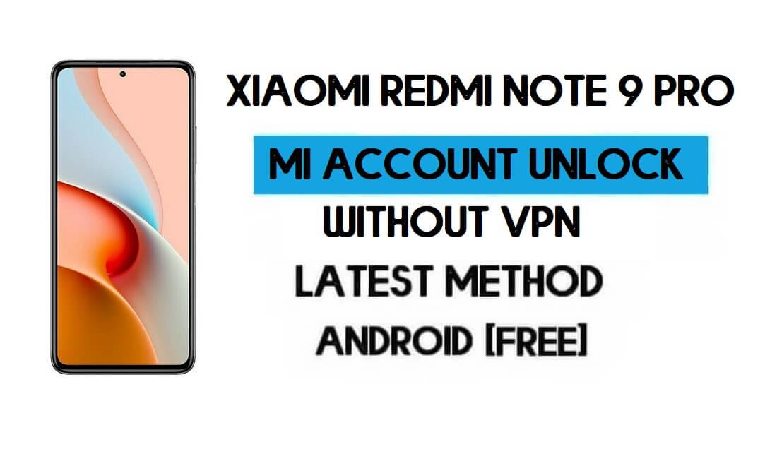 Xiaomi Redmi Note 9 Pro Mi Account Remove File Without VPN Qfil Tool