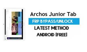 Archos Junior Tab FRP Bypass – Unlock Gmail Lock Android 7.0 Free