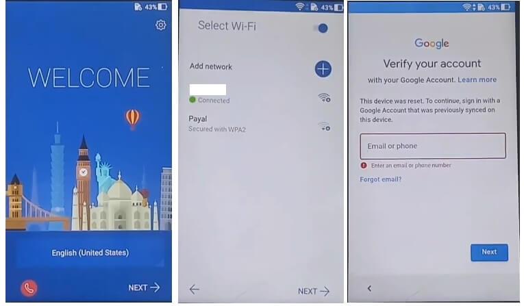 Asus Zenfone 3 Max FRP Bypass Unlock Google Android 7 Gmail unlock
